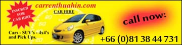 Car Rent Hua Hin  Advertising